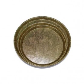 엘스코퍼레이션 화이바쟁반 원형 3종 택1 (금색, 은색)