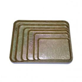엘스코퍼레이션 화이바쟁반 직사각 6종 택1 (금색, 은색)