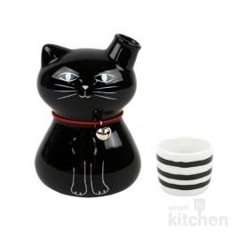유포코리아 일제 도자기 검은 고양이 독구리 세트 (일제-765) 도쿠리 / 사케병