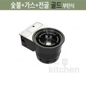한국GM 숯불 + 가스 + 전골 로스터 상향식 닥트공사용 부탄 가스로스타 로스터