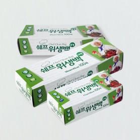 TG 쉐프 위생백 3종 / 위생팩 / 일회용 비닐 / 비닐봉지 / 위생비닐 / 위생봉지