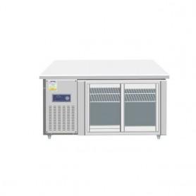 레인보우 글라스형 냉동,냉장겸용 테이블 2DOOR (W1500*D700*H800) (유리 미닫이문 자당 2만원 추가)