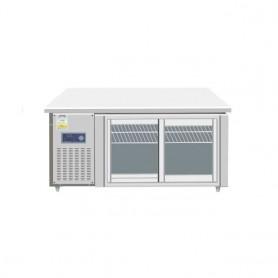 레인보우 글라스형 냉동,냉장겸용 테이블 2DDOR (W1800*D700*H800) (유리 미닫이문 자당 2만원 추가)