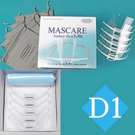 DW M5(5개입) 투명 플라스틱 위생 마스크 마스케어 입가리개 / 조리용 마스크