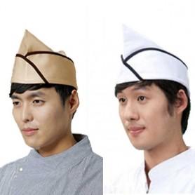 DW 헬로모자 (T/C) 베이지, 백곤, 백적 위생모자 / 조리용 모자 / 주방 모자