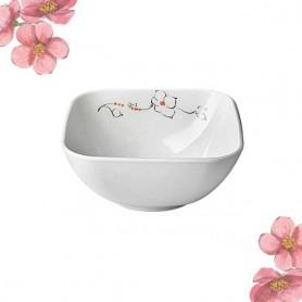 삼미 멜라민연백자 사각면기 사각면기 멜라민면기 면기 꽃면기