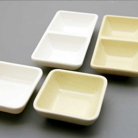 국제 사각종지 2종 택1 사각쌍종지 소스기 초장기 멜라민그릇 멜라민식기 업소용식기 업소용그릇