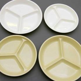 국제 원형3칸접시 원형접시 칸접시 반찬접시 멜라민접시 멜라민그릇 업소용그릇 업소용식기