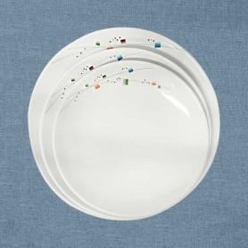 삼미 모자이크 골든접시 업소용식기 업소용그릇 멜라민식기 멜라민그릇