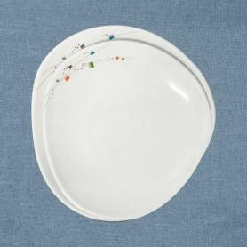 삼미 모자이크 웰빙쉘접시 업소용식기 업소용그릇 멜라민식기 멜라민그릇