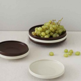 ERATO 오트접시 플레이팅접시 원플레이트그릇 다과그릇 도자기그릇 카페그릇